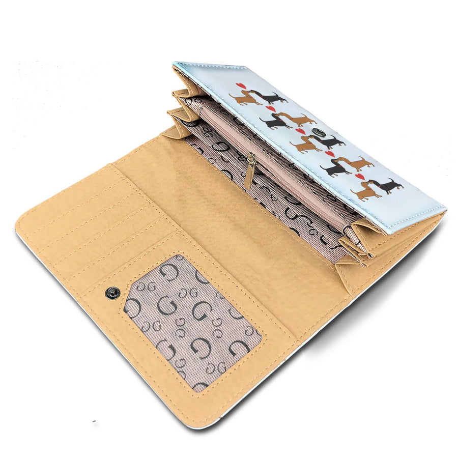 Women's Wallet I Love Dachshunds Short Hair - FREE SHIPPING