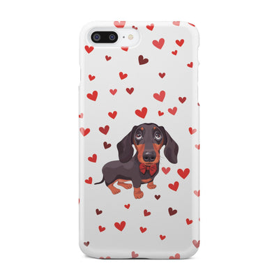 Cell Phone Cases Dachshund Black and Tan Red Bow tie FREE SHIPPING