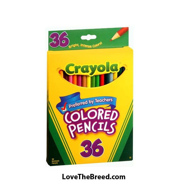 36 Pack Crayola Bold Colored Pencils