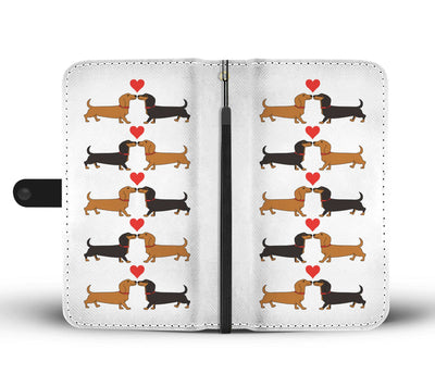 Cell Phone Wallet Cases I Love Dachshunds Short Hair