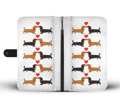 Cell Phone Wallet Cases I Love Dachshunds Long Hair