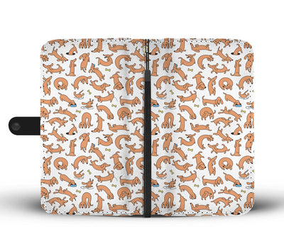 Cell Phone Wallet Cases Dachshunds Everywhere