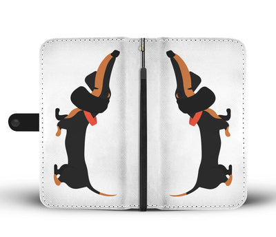 Cell Phone Wallet Cases Dachshund Black and Tan Short and Sweet