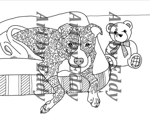 pitbull coloring pages - photo#20