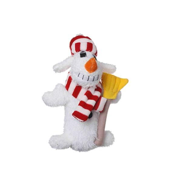 "6"" Loofa Snowman Dog Toy"