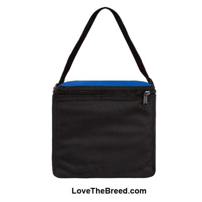 Dachshund Black and Tan in Hammock Small Cooler Bag Blue