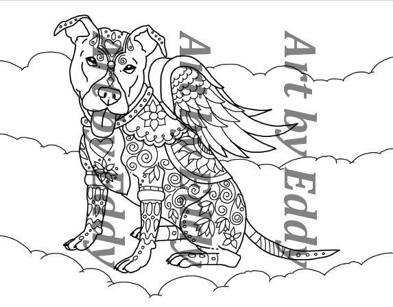 pitbull coloring pages - photo#30