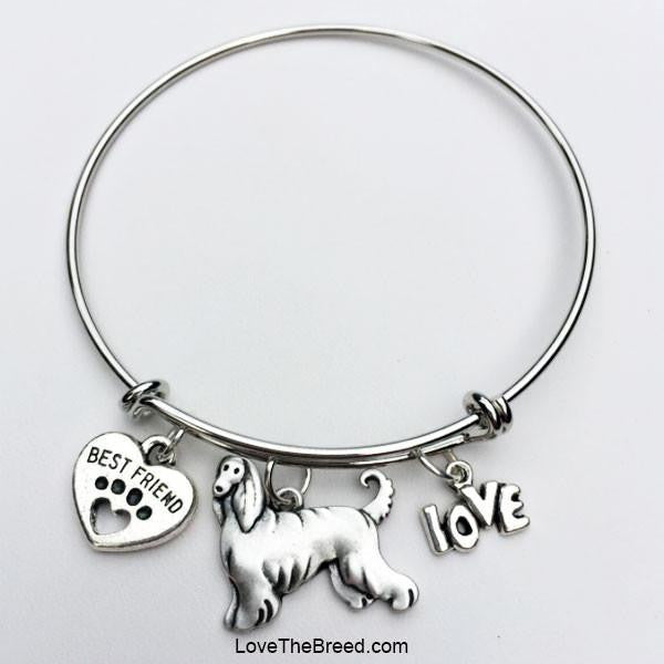 Afghan Best Friend Love Charm Bracelet