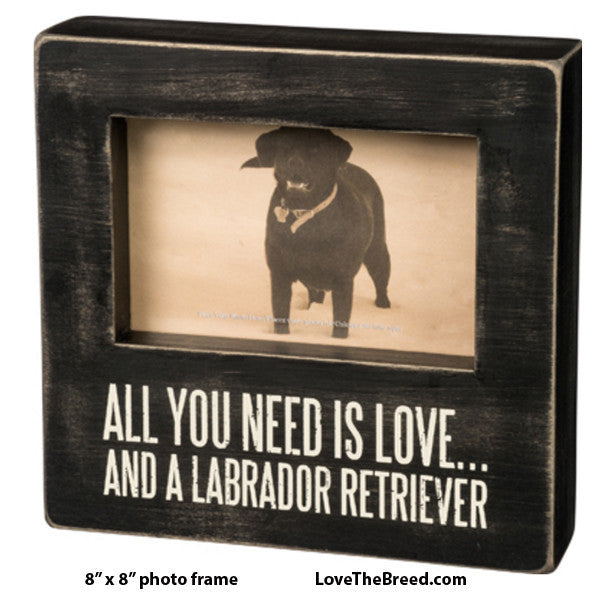 All You Need is Love and a Labrador Retriever Photo Frame