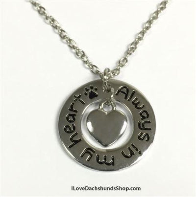 Dachshund Always in My Heart Necklace