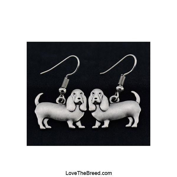 Basset Hound Charm Earrings