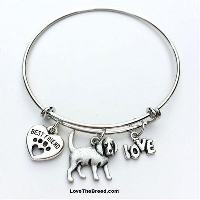 Beagle Best Friend Love Charm Bracelet