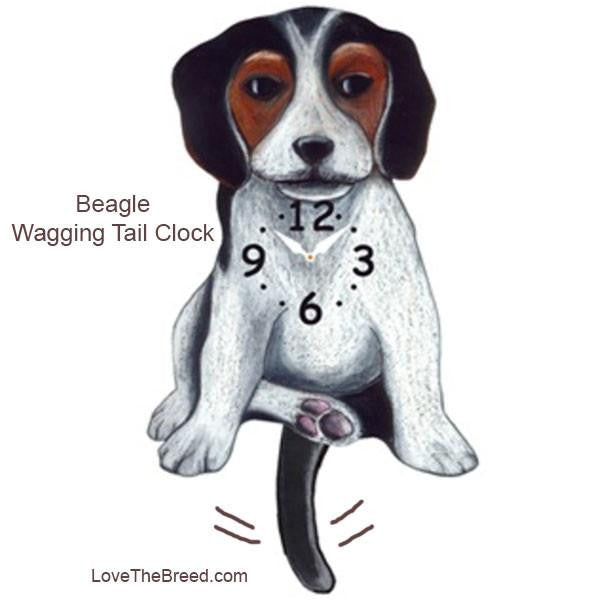 Beagle Wagging Tail Clock