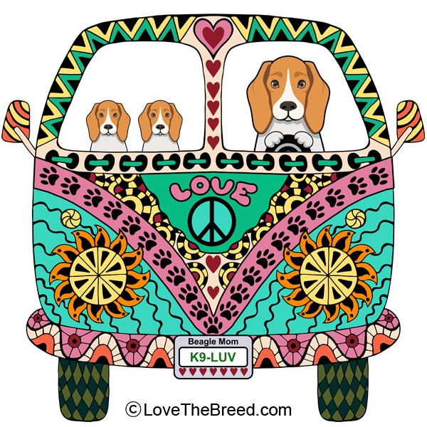 Beagle Love Bus Extra Large Tote