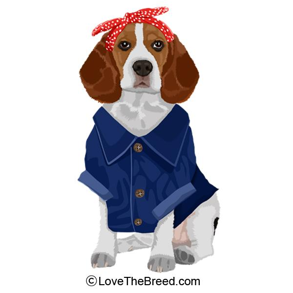 Beagle Rosie the Riveter DOG Extra Large Tote