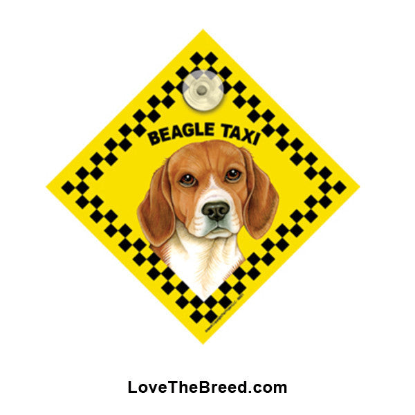 Beagle Taxi Car Sign