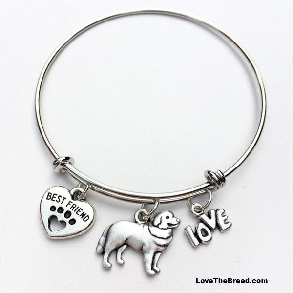 Bernese Mountain Dog Best Friend Love Charm Bracelet