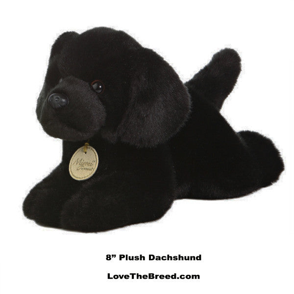 Black Labrador Retriever Plush Toy Dog by Miyoni