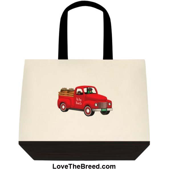 Black Labrador Biscuit Truck Extra Large Tote