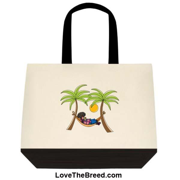 Black Labrador in Hammock Extra Large Tote