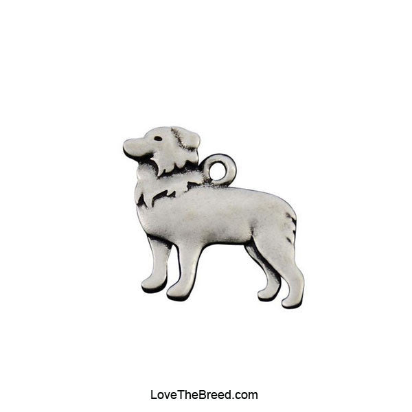 Border Collie Charm Necklace