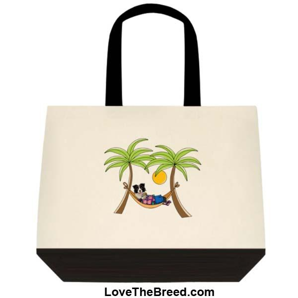 Border Collie in Hammock Extra Large Tote