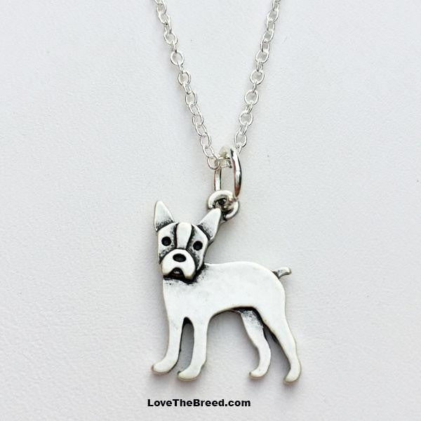 Boston Terrier Charm Necklace