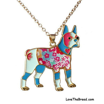 Boxer Enamel Necklace