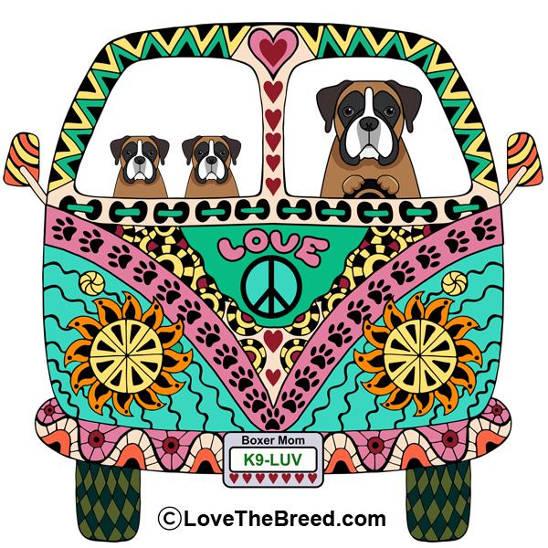 Boxer Love Bus Extra Large Tote