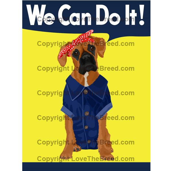Boxer Rosie the Riveter We Can Do It Extra Large Tote