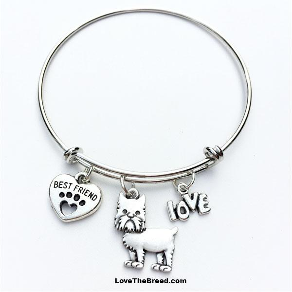 Brussels Griffon Best Friend Love Charm Bracelet