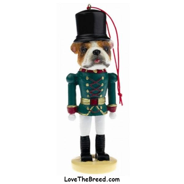 Bulldog Soldier Christmas Ornament