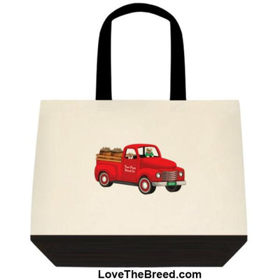 Bulldog Biscuit Truck Extra Large Tote