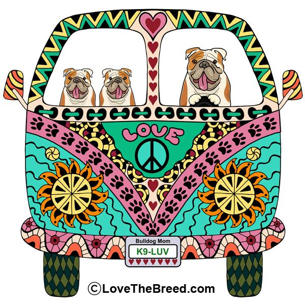 Bulldog Love Bus Extra Large Tote