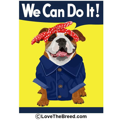 Bulldog Rosie the Riveter We Can Do It Extra Large Tote