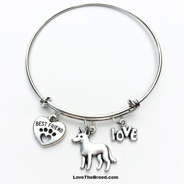 Cattle Dog Best Friend Love Charm Bracelet