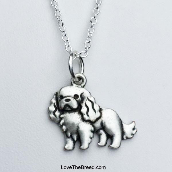 Cavalier King Charles Spaniel Charm Necklace