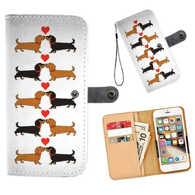 Cell Phone Wallet Cases I Love Dachshunds Wire Hair