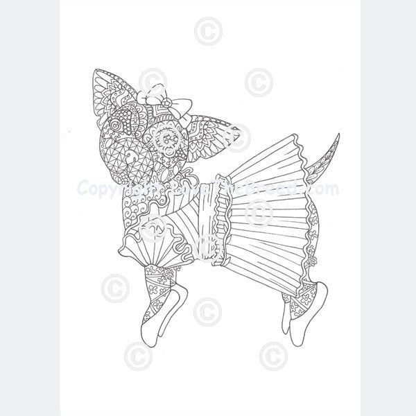 Chihuahua Coloring Book For Adults And Children Volume 1
