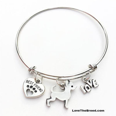 Chihuahua Best Friend Love Charm Bracelet