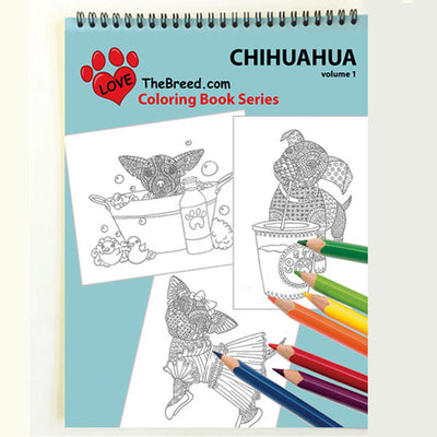Chihuahua Coloring Book for Adults and Children - Volume 1 - Love-The-Breed