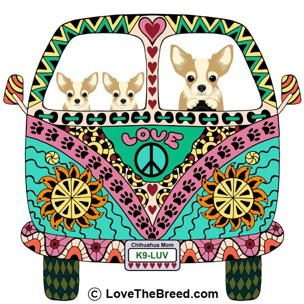 Chihuahua Love Bus Extra Large Tote