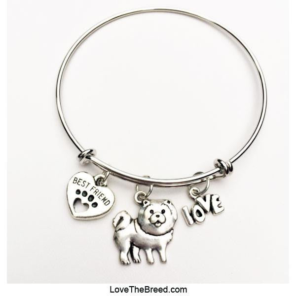 Chow Chow Best Friend Love Charm Bracelet
