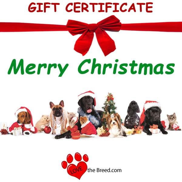 Gift Card Emailed Instantly Christmas Dogs and Cats
