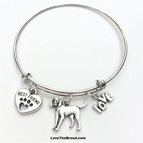 Coonhound Best Friend Love Charm Bracelet