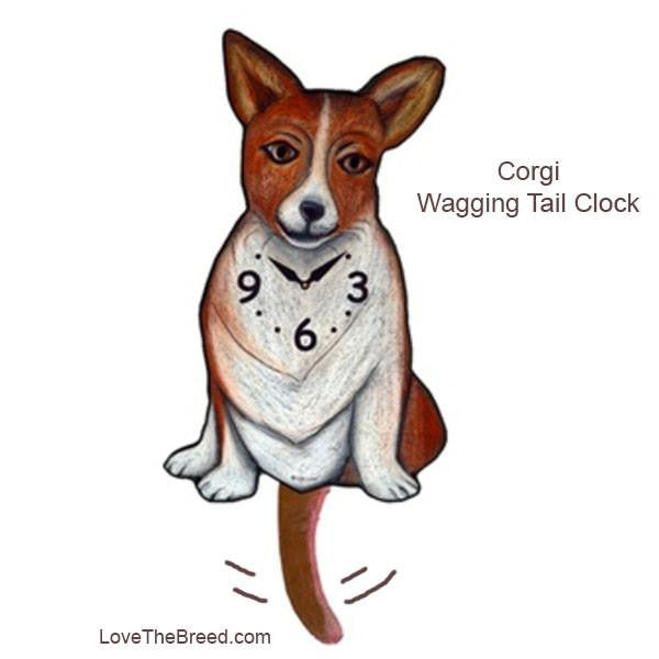 Corgi Wagging Tail Clock