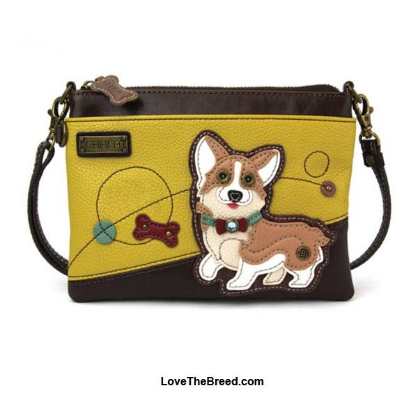 Corgi Mini Crossbody or Clutch Purse Chala