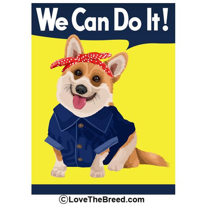 Corgi Rosie the Riveter We Can Do It Extra Large Tote