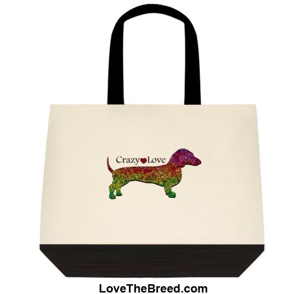 Dachshund Crazy Love Extra Large Tote