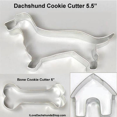 Dachshund Cake Pan + Ice Cube Tray Set + 3 FREE Cookie Cutters